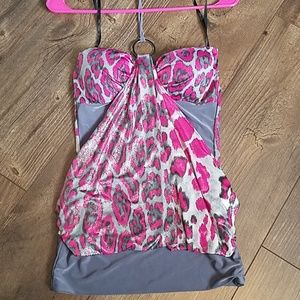 Leapord Dress Top